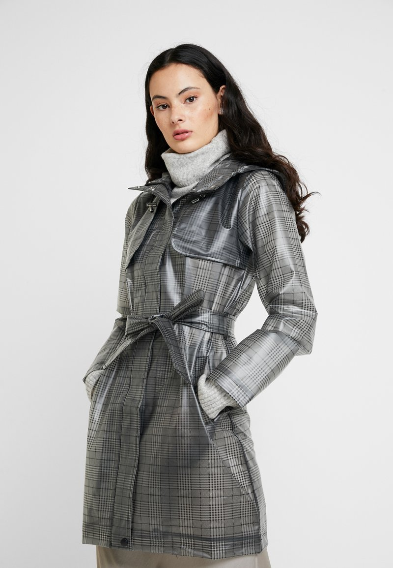 Dorothy Perkins - CHECK - Trenchcoat - black