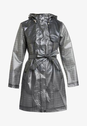 CHECK - Trenchcoat - black