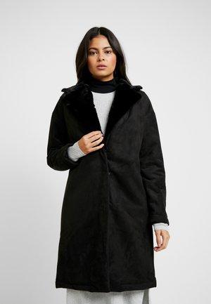 LINED LONGLINE COAT - Manteau classique - black