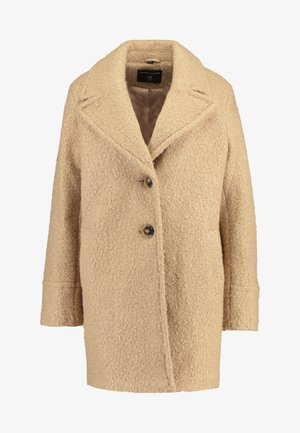 BOUCLE ONE BUTTON COAT - Classic coat - honey