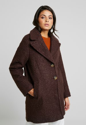ONE BUTTON COAT - Classic coat - fudge