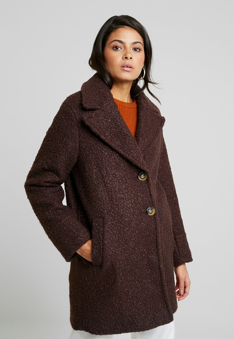 Dorothy Perkins - ONE BUTTON COAT - Classic coat - fudge