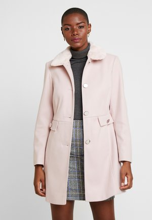 FUR COLLAR DOLLY - Classic coat - pink