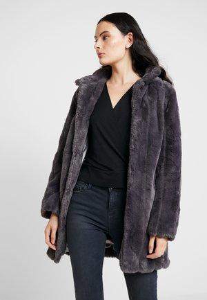 LONG LINE PELTED - Krátký kabát - slate grey