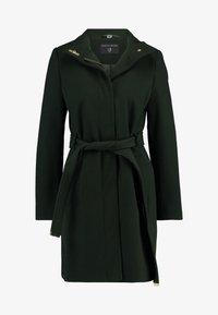 Dorothy Perkins - LONG FUNNEL BELTED WRAP - Zimní kabát - khaki - 4