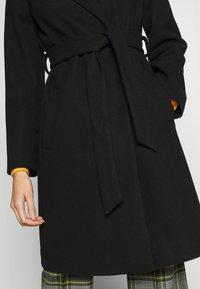Dorothy Perkins - SHAWL COLLAR COAT - Classic coat - black - 4