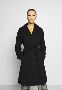 Dorothy Perkins - SHAWL COLLAR COAT - Classic coat - black - 0