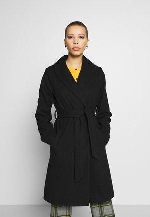 SHAWL COLLAR COAT - Classic coat - black