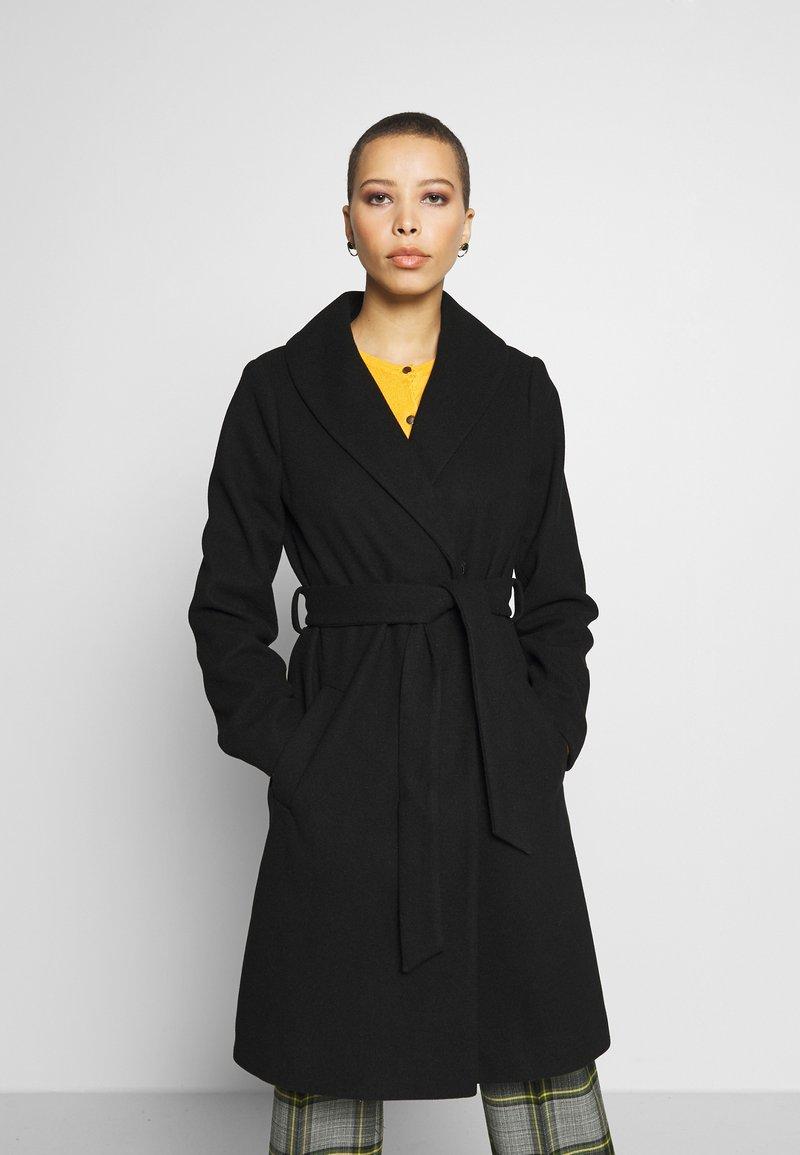 Dorothy Perkins - SHAWL COLLAR COAT - Classic coat - black