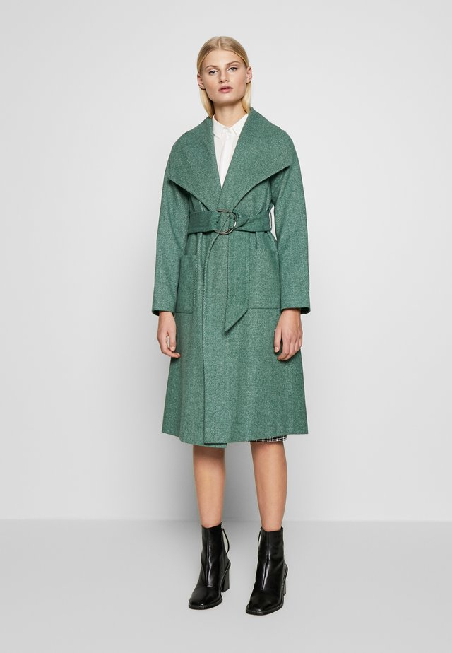 WRAP COAT - Kappa / rock - forest green