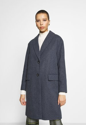 BLUE SHAWL COLLAR SOFT BREASTED - Classic coat - blue
