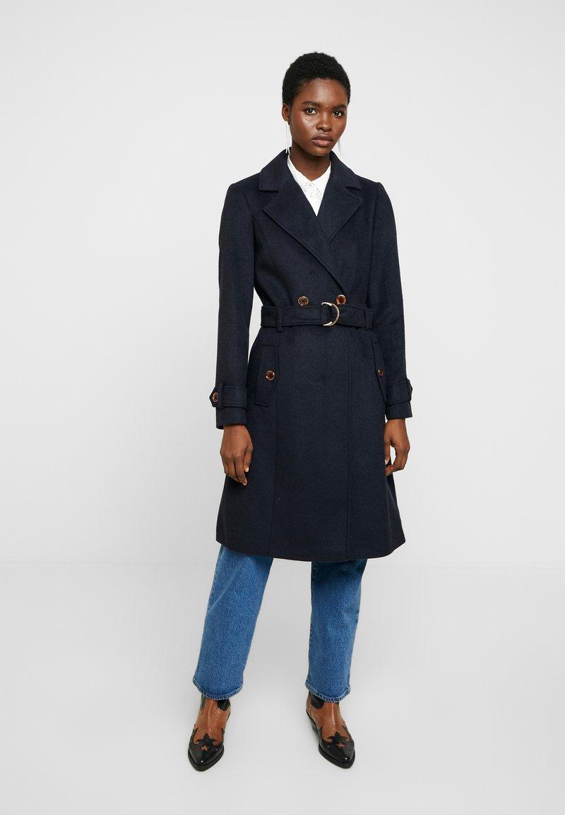 Dorothy Perkins - UTILITY WRAP COAT - Classic coat - black