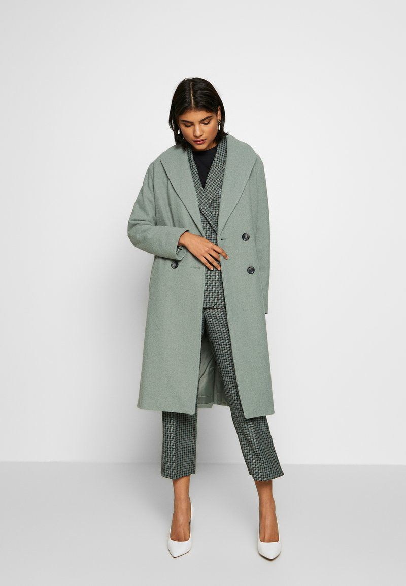 Dorothy Perkins - SAGE RELAXED DOUBLE BREASTED - Cappotto classico - green