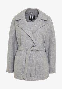 Dorothy Perkins - SHORT WRAP LIGHTWEIGHT COAT - Krátký kabát - grey - 4