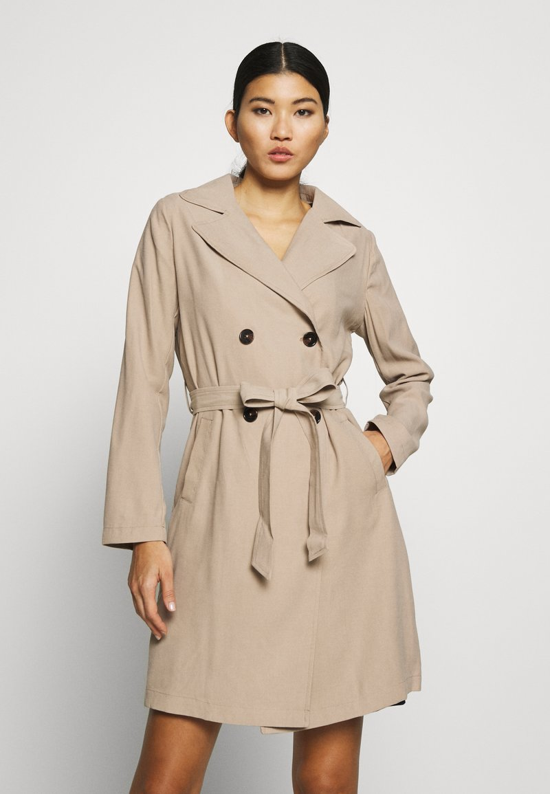 Dorothy Perkins - BUTTON FRONT - Trenchcoat - stone