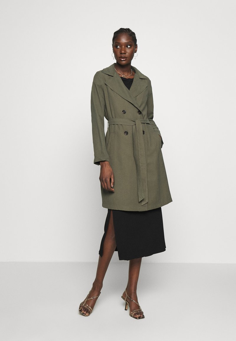 Dorothy Perkins - BUTTON FRONT - Trench - khaki