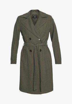 BUTTON FRONT - Trenchcoat - khaki