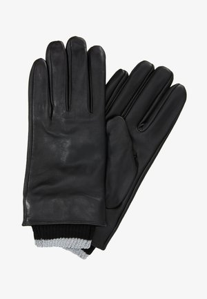 CHECK BOW GLOVE - Fingerhandschuh - black