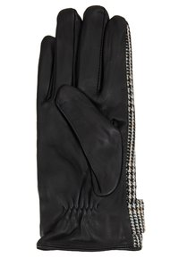 Dorothy Perkins - CHECK BOW GLOVE - Rukavice - black/white - 2