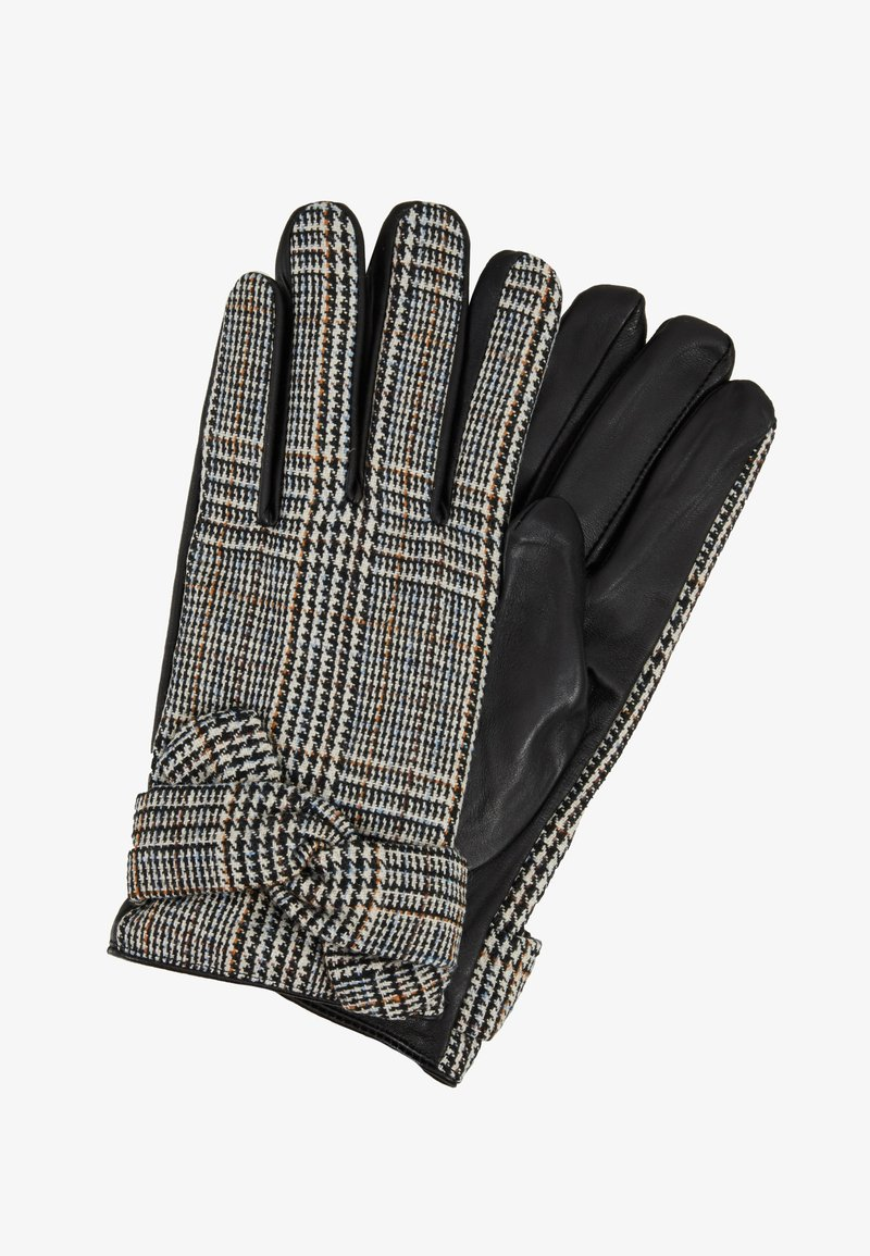 Dorothy Perkins - CHECK BOW GLOVE - Rukavice - black/white