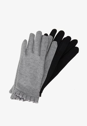 2 PACK FRILL GLOVE - Gants - black