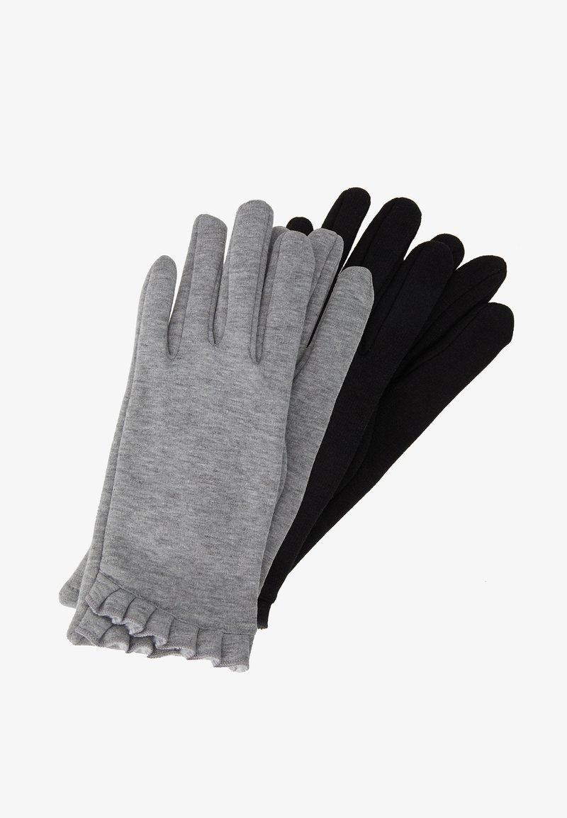 Dorothy Perkins - 2 PACK FRILL GLOVE - Fingervantar - black