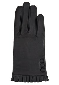 Dorothy Perkins - BUTTON FRILL GLOVE 2 PACK - Gloves - black - 1