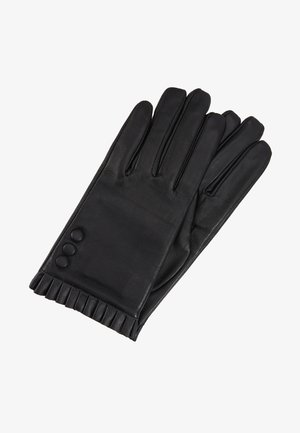 BUTTON FRILL GLOVE 2 PACK - Gants - black