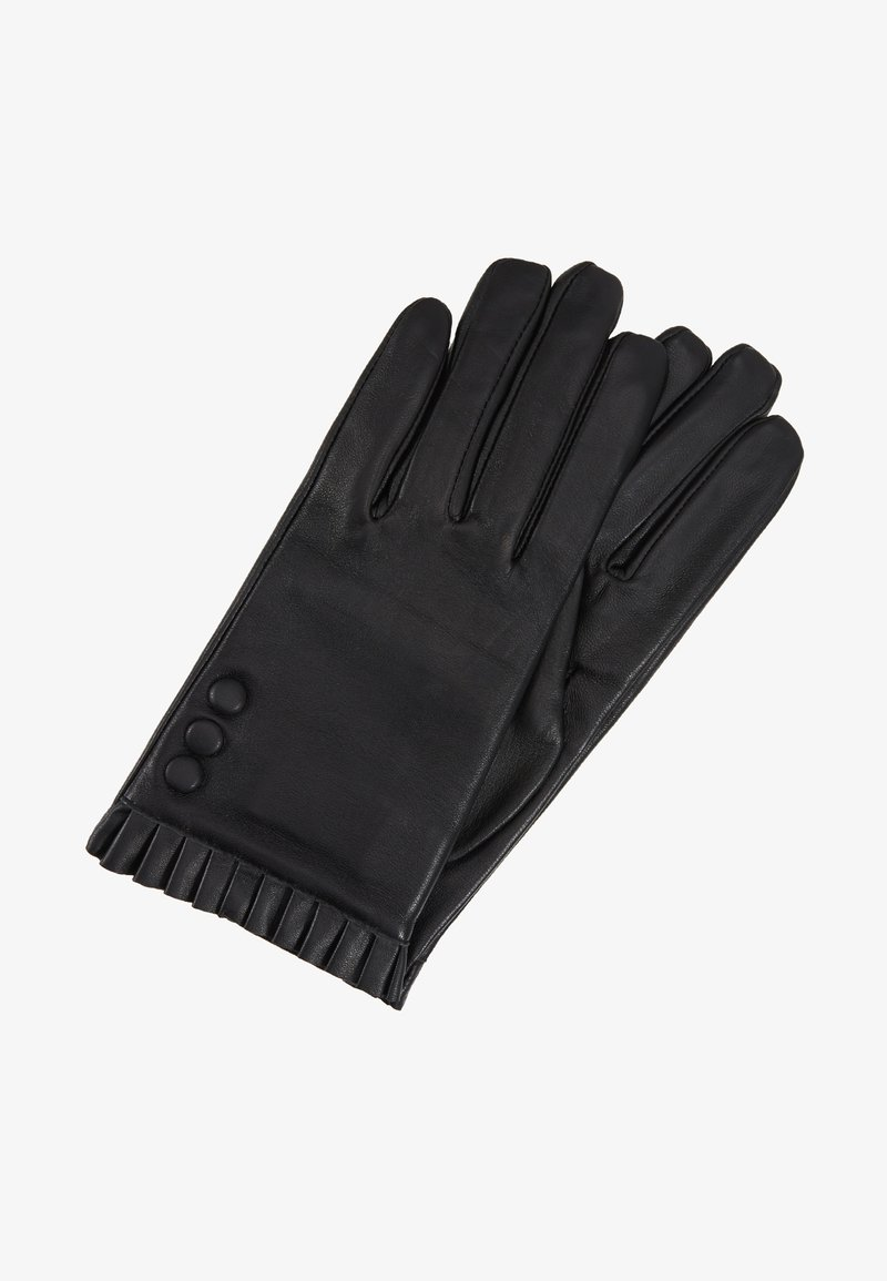 Dorothy Perkins - BUTTON FRILL GLOVE 2 PACK - Gloves - black