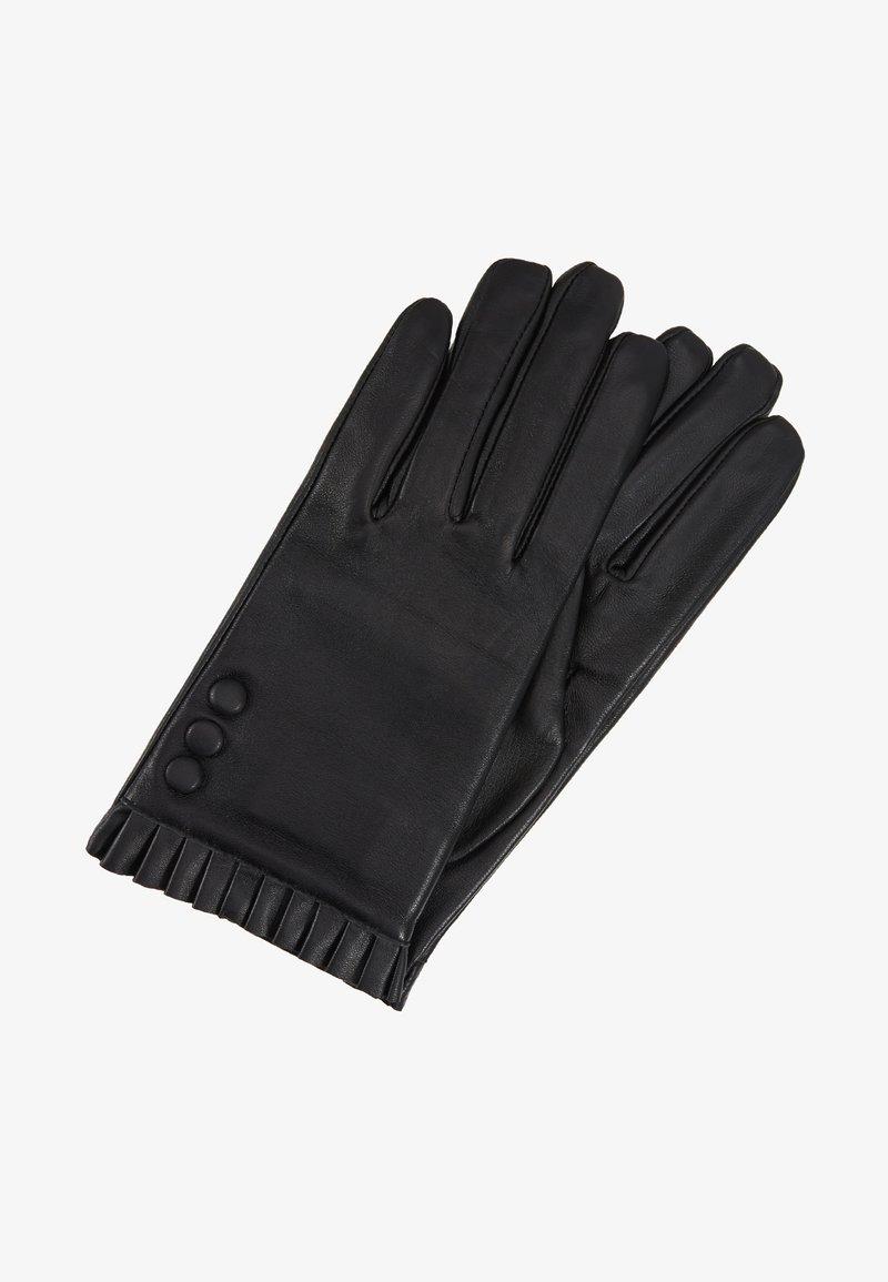 Dorothy Perkins - BUTTON FRILL GLOVE 2 PACK - Fingerhandschuh - black