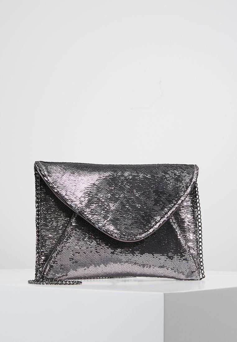 Dorothy Perkins - SEQUIN PIPED - Clutch - pewter