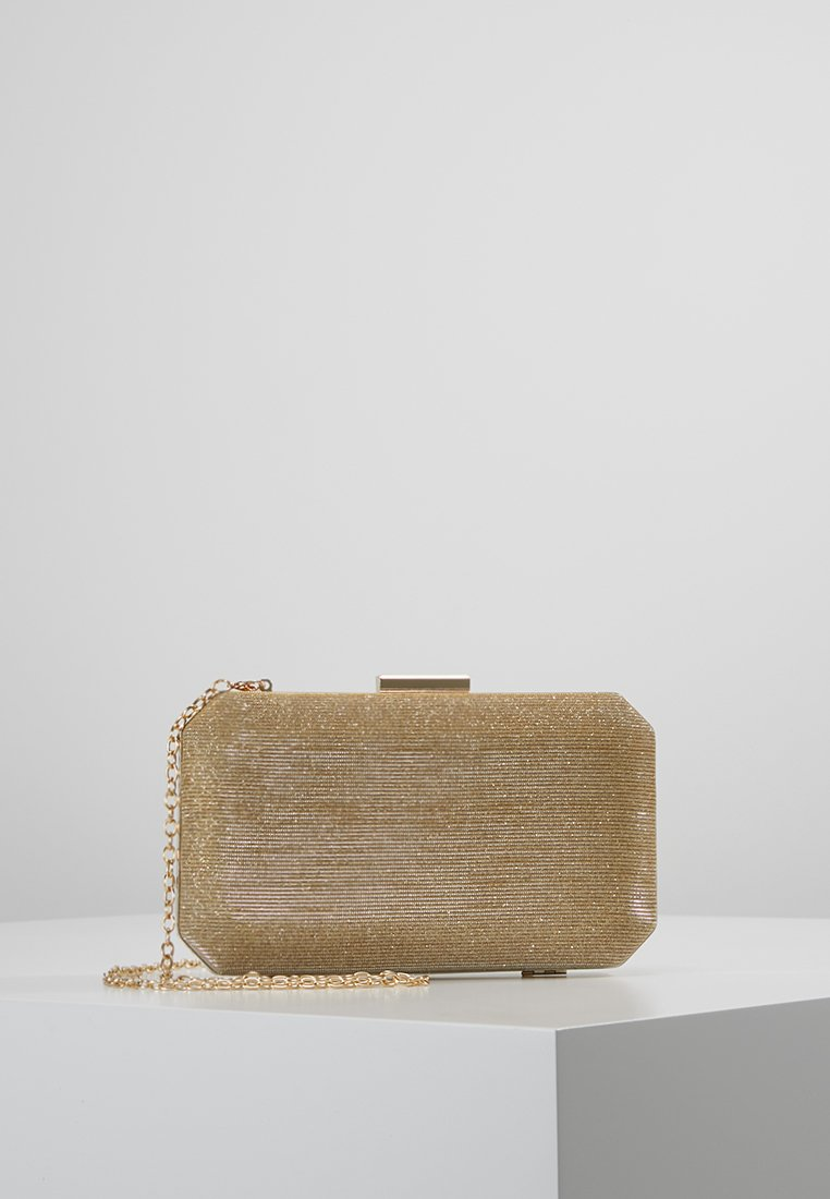 Dorothy Perkins - BOXY GLITTER - Clutch - gold