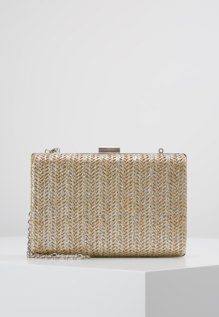 Dorothy Perkins - WEAVE BOX CLUTCH - Clutches - gold-coloured