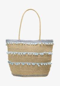 Dorothy Perkins - POM TRIM BEACH SHOPPER - Shopping bags - blue - 5