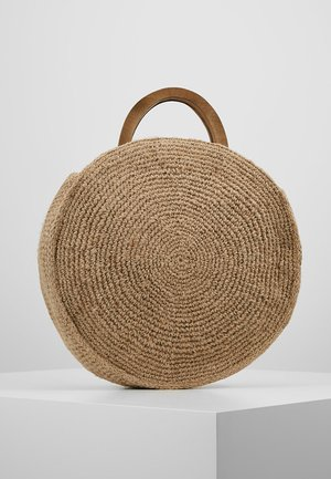 HANDLE CIRCLE SHOPPER - Shoppingväska - raffia