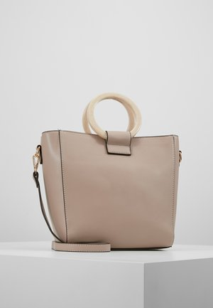 CIRCLE HANDLE MINI TOTE - Borsa a tracolla - nude