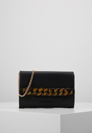 TORT CHAIN  CIRCLE HANDLE MINI TOTE - Clutch - black