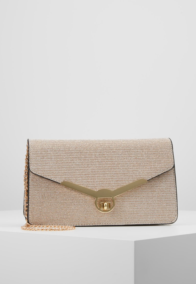 Dorothy Perkins - CURVE LOCK CLUTCH - Clutch - rose gold