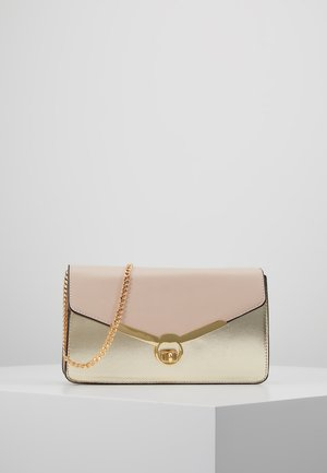TWIST BAR CLUTCH - Pikkulaukku - rose gold-coloured