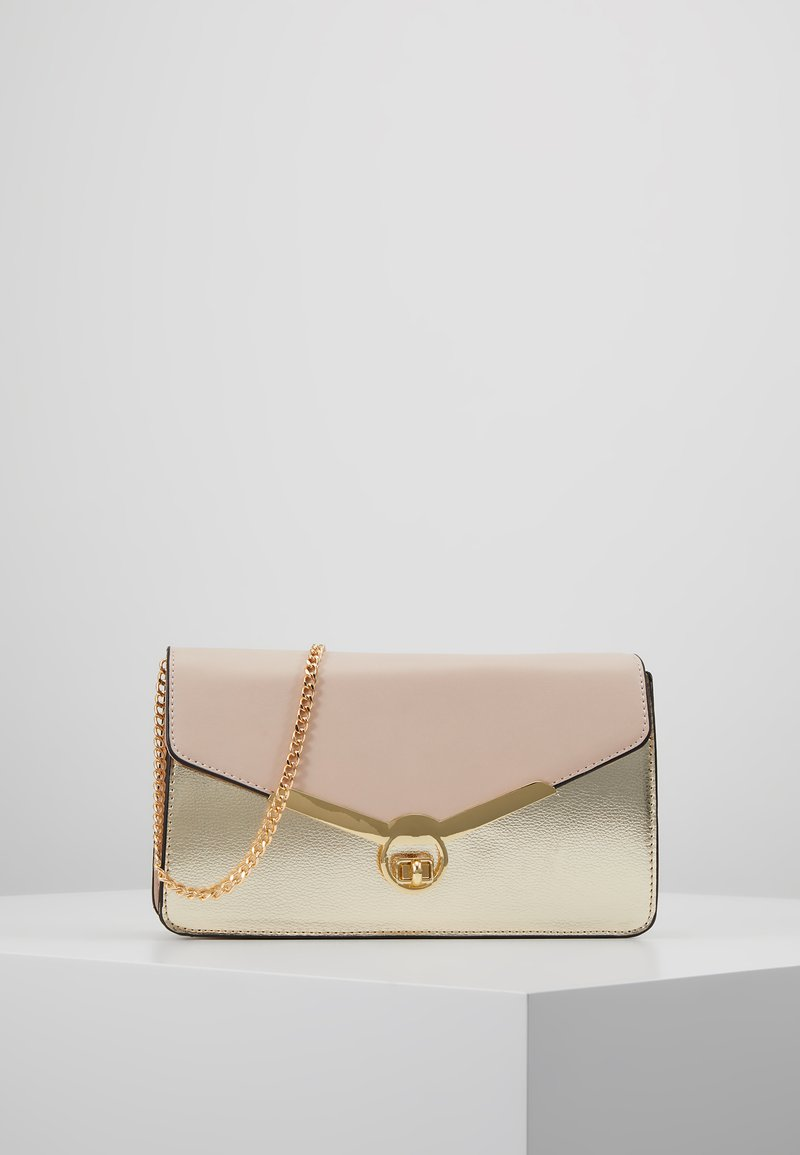 Dorothy Perkins - TWIST BAR CLUTCH - Pochette - rose gold-coloured