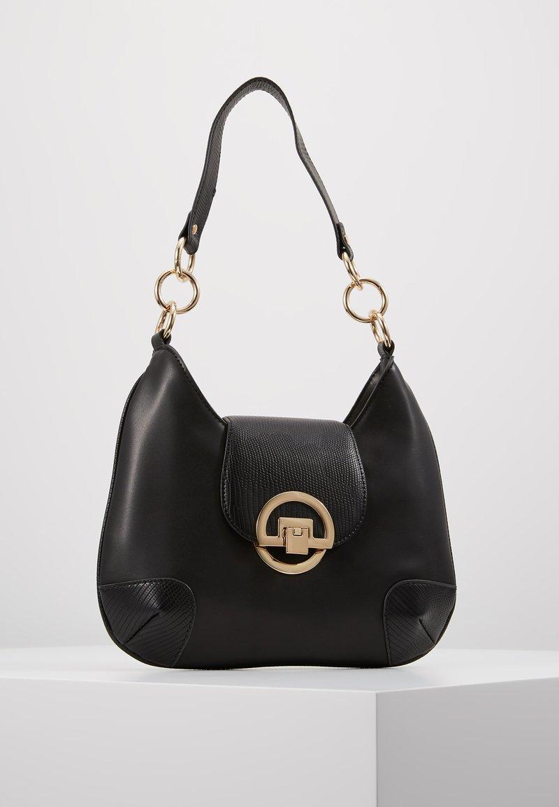 Dorothy Perkins - CIRCLE LOCK MINI SHOULDER - Håndtasker - black