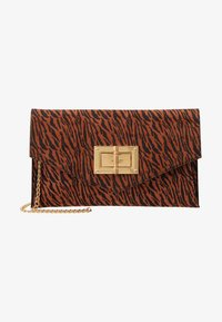 Dorothy Perkins - LARGE LOCK - Clutch - rust - 5