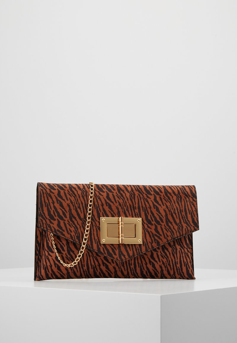 Dorothy Perkins - LARGE LOCK - Clutch - rust