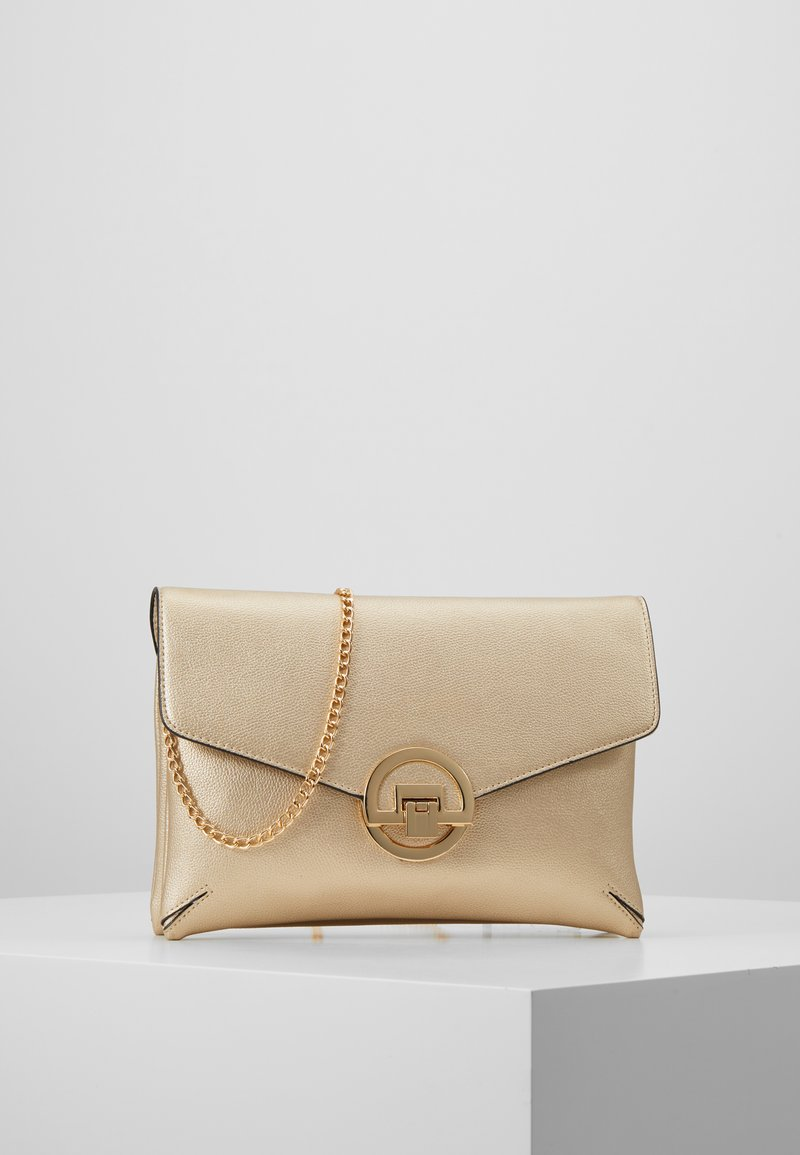 Dorothy Perkins - DOUBLE COMP HARDWARE - Clutch - gold