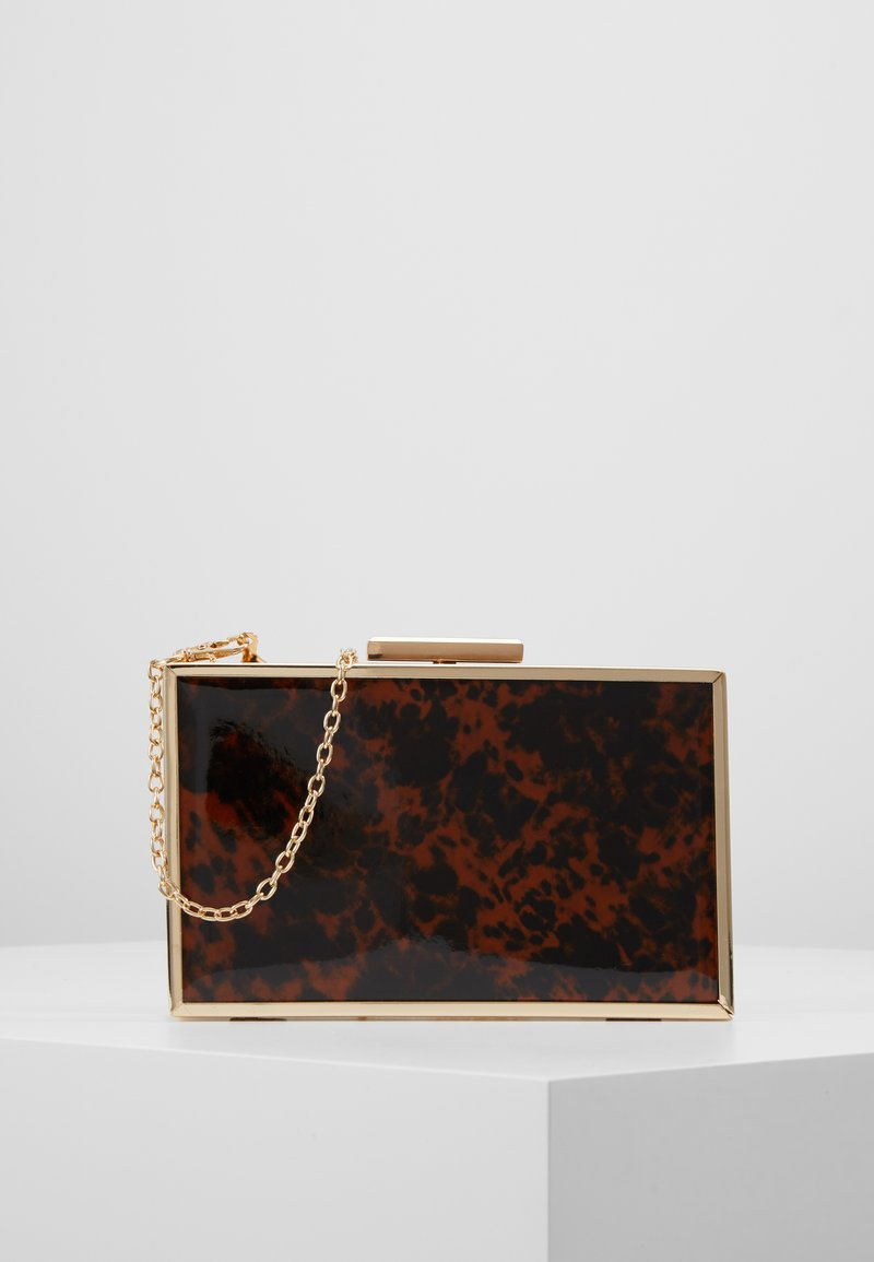 Dorothy Perkins - TORT BOX - Clutches - brown