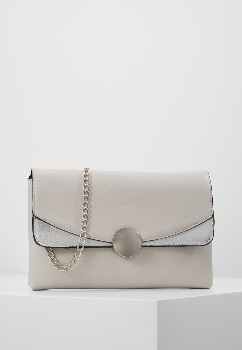 Dorothy Perkins - CIRCLE HARDWARE - Clutch - grey