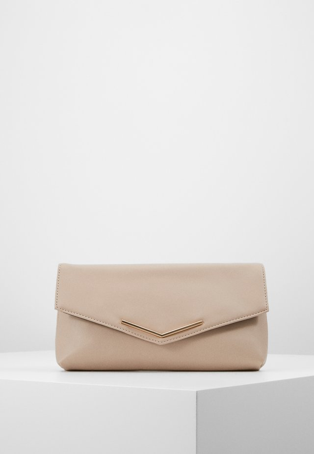 STITCHED BAR  - Clutch - nude