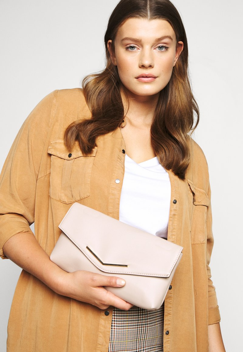 Dorothy Perkins - STITCHED BAR  - Clutch - nude