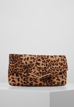 STITCHED - Clutch - brown