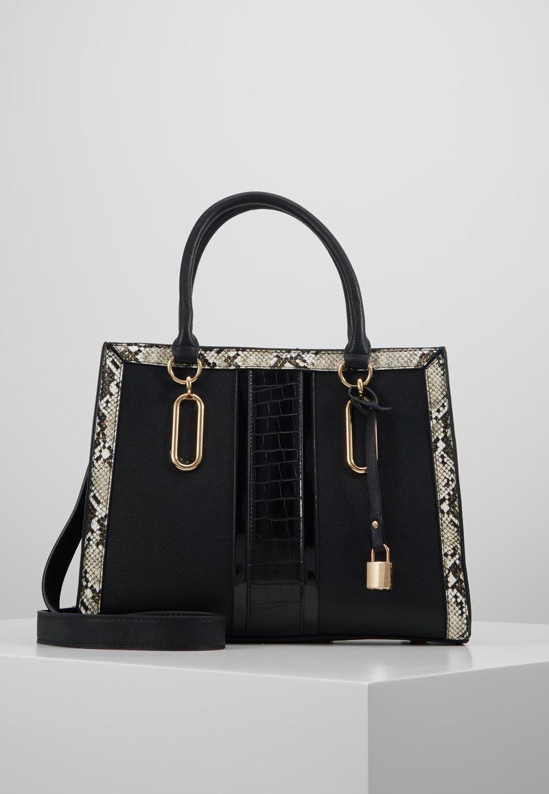 Dorothy Perkins - PANELLED BOXY TOTE - Across body bag - black